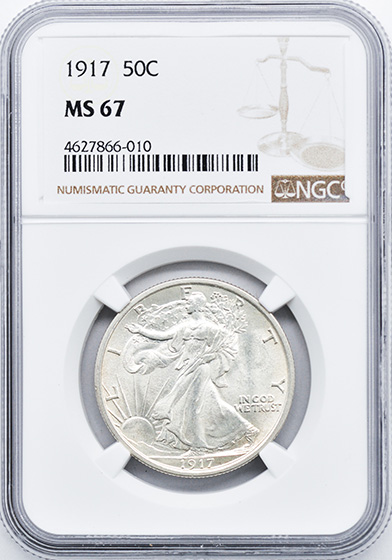 Picture of 1917 WALKING LIBERTY 50C MS67