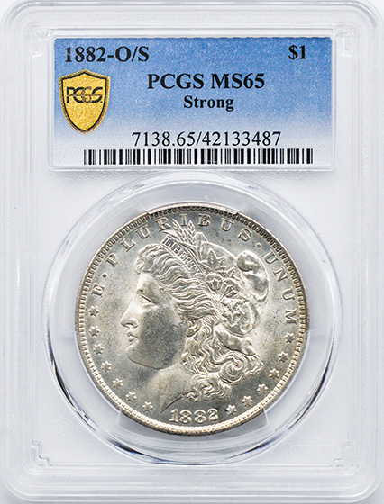 Picture of 1882-O/S MORGAN S$1, O/S STRONG MS65